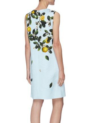Back View - Click To Enlarge - OSCAR DE LA RENTA - CITRUS PRIMAVERA PRINT Sleeveless Mini Dress