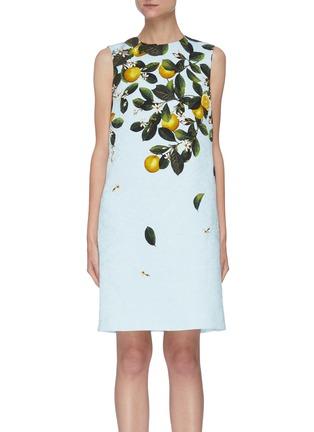 Main View - Click To Enlarge - OSCAR DE LA RENTA - CITRUS PRIMAVERA PRINT Sleeveless Mini Dress