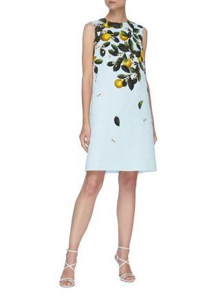 Figure View - Click To Enlarge - OSCAR DE LA RENTA - CITRUS PRIMAVERA PRINT Sleeveless Mini Dress