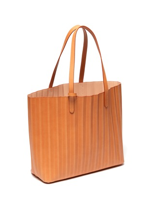 Detail View - Click To Enlarge - MANSUR GAVRIEL - Top Handle Pleated Leather Tote