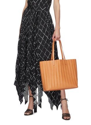 Figure View - Click To Enlarge - MANSUR GAVRIEL - Top Handle Pleated Leather Tote