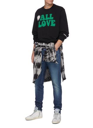 Figure View - Click To Enlarge - AMIRI - Slogan Graphic Patch Cotton Sweatshirt