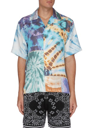 Main View - Click To Enlarge - AMIRI - Mixed Tie-Dye Patchwork Shirt