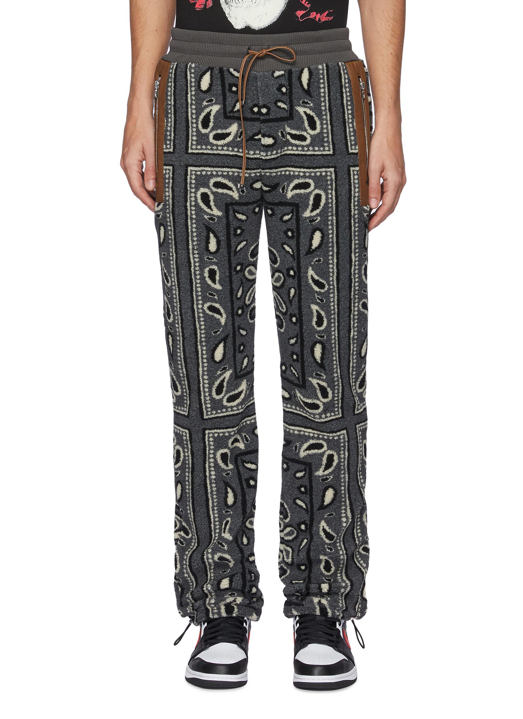Amiri Clothing BANDANA PRINT FLEECE JOGGER PANTS