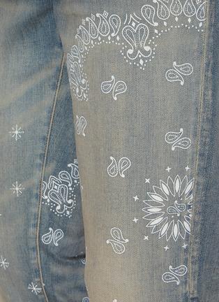 - AMIRI - Bandana Screen Print Distressed Denim Jeans