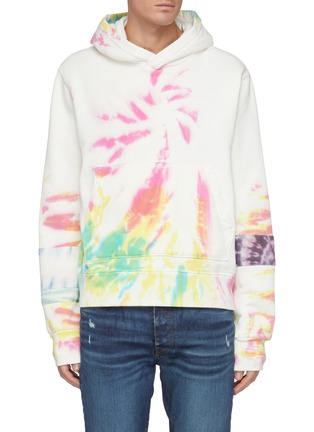 Main View - Click To Enlarge - AMIRI - Tie Dye Patchwork Cotton Hoodie