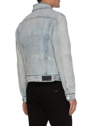 Back View - Click To Enlarge - AMIRI - Zip Slash Pocket Denim Jacket