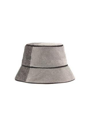 Figure View - Click To Enlarge - KARA - Panel crystal mesh bucket hat