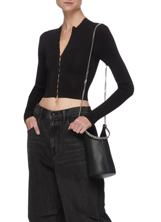 Figure View - Click To Enlarge - KARA - 'Infinity Cooler' chain leather shoulder bag