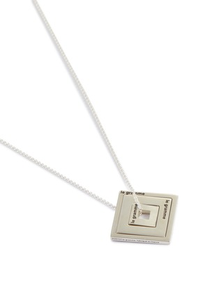 Detail View - Click To Enlarge - LE GRAMME - Triple Square Pendant Silver Necklace
