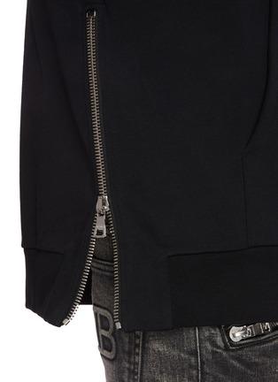 - BALMAIN - Slogan print oversized hoodie