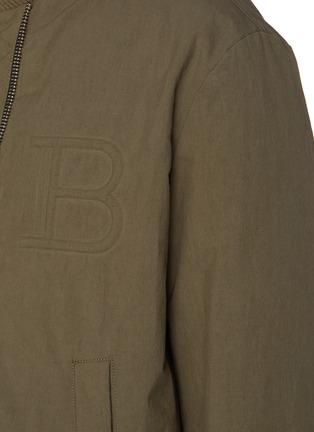 - BALMAIN - Logo embossed reversible bomber jacket