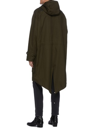 Back View - Click To Enlarge - BALMAIN - Hooded Cotton Blend Parka