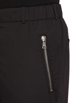 - BALMAIN - Zip pocket cotton tailored pants