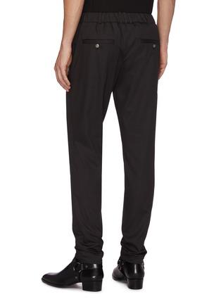 Back View - Click To Enlarge - BALMAIN - Zip pocket cotton tailored pants