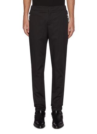 Main View - Click To Enlarge - BALMAIN - Zip pocket cotton tailored pants