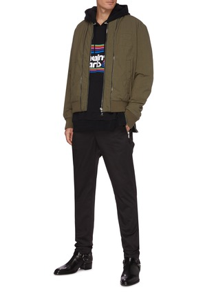 Figure View - Click To Enlarge - BALMAIN - Zip pocket cotton tailored pants