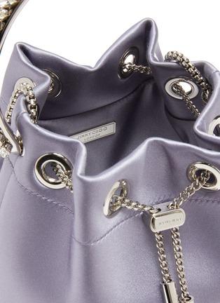 Detail View - Click To Enlarge - JIMMY CHOO - 'BON BON' CRYSTAL EMBELLISHED HANDLE SATIN BAG