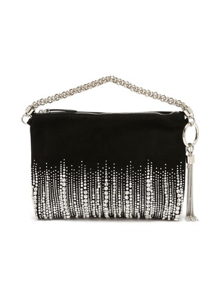 Main View - Click To Enlarge - JIMMY CHOO - 'Callie' embroidered crystal suede clutch