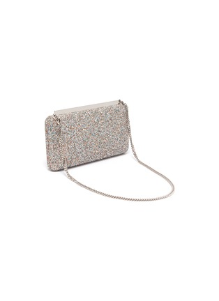 Detail View - Click To Enlarge - JIMMY CHOO - Ellipse' coarse glitter clutch