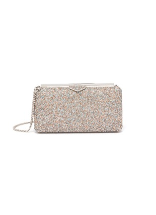 Main View - Click To Enlarge - JIMMY CHOO - Ellipse' coarse glitter clutch