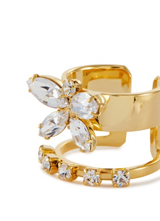 Detail View - Click To Enlarge - JOOMI LIM - Crystal Butterfly Double Band Ring