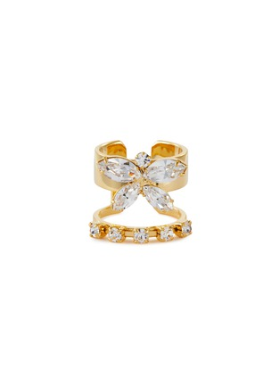 Main View - Click To Enlarge - JOOMI LIM - Crystal Butterfly Double Band Ring