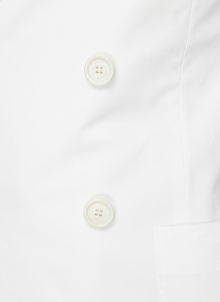 - MAISON MARGIELA - Peak Lapel Double-breast Cotton Blazer