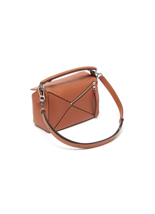 Detail View - Click To Enlarge - LOEWE - 'Puzzle' geometric panel small leather bag