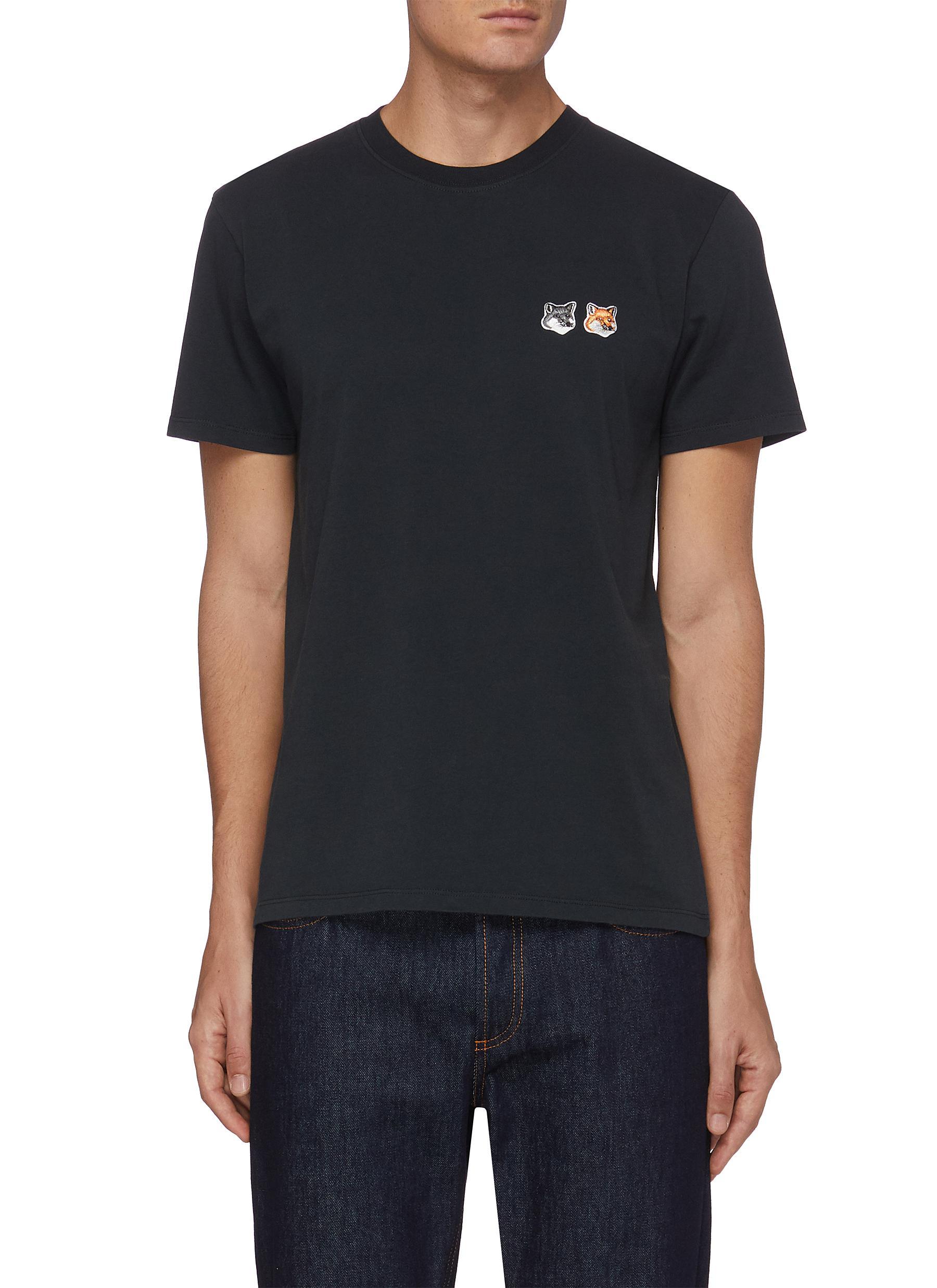 Double Fox Head Patch T-Shirt - MAISON KITSUNÉ - Modalova