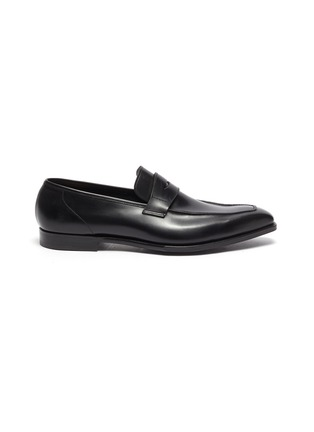 Main View - Click To Enlarge - GEORGE CLEVERLEY - George' Chisel Toe Leather Penny Loafers