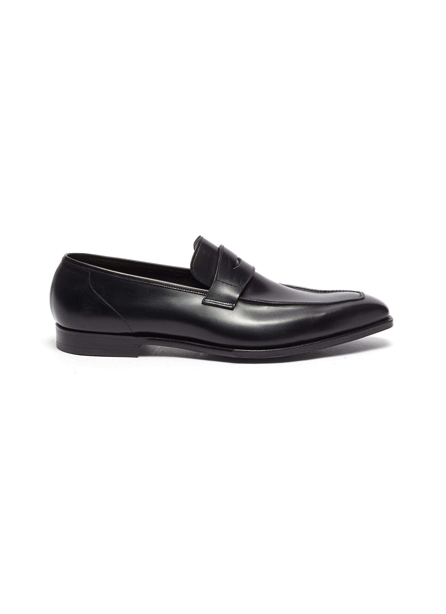 George' Chisel Toe Leather Penny Loafers
