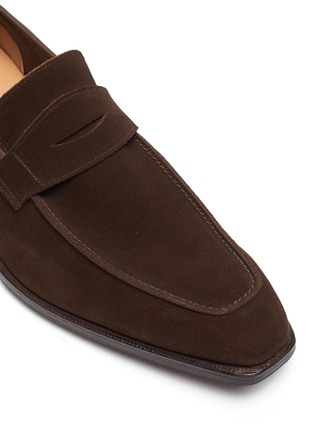 Detail View - Click To Enlarge - GEORGE CLEVERLEY - George' Chisel Toe Suede Penny Loafers