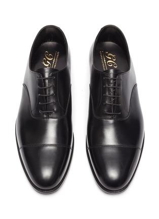 Detail View - Click To Enlarge - GEORGE CLEVERLEY - Michael' Chisel Toe Calfskin Leather Oxford Shoes