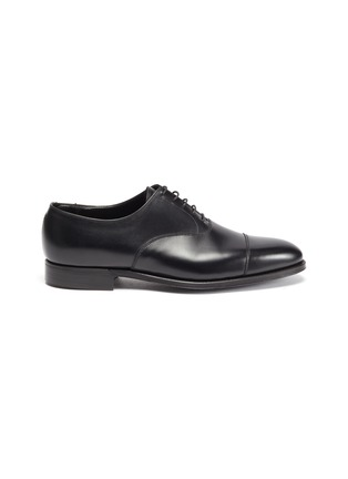 Main View - Click To Enlarge - GEORGE CLEVERLEY - Michael' Chisel Toe Calfskin Leather Oxford Shoes