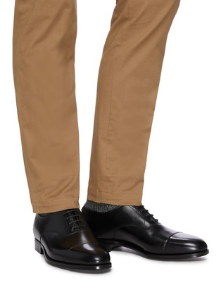 Figure View - Click To Enlarge - GEORGE CLEVERLEY - Michael' Chisel Toe Calfskin Leather Oxford Shoes