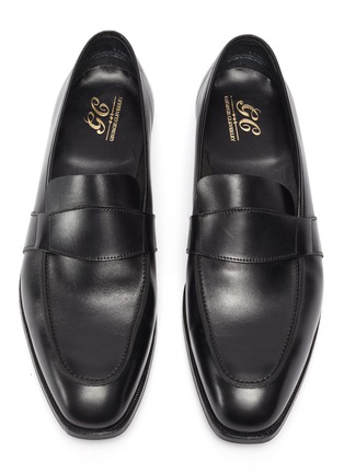 Detail View - Click To Enlarge - GEORGE CLEVERLEY - Owen' Wide Strap Leather Penny Loafers