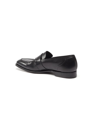 - GEORGE CLEVERLEY - Owen' Wide Strap Leather Penny Loafers