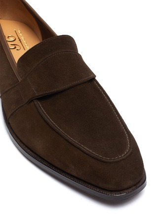 Detail View - Click To Enlarge - GEORGE CLEVERLEY - Owen' Wide Strap Suede Penny Loafers