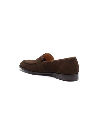 - GEORGE CLEVERLEY - Owen' Wide Strap Suede Penny Loafers
