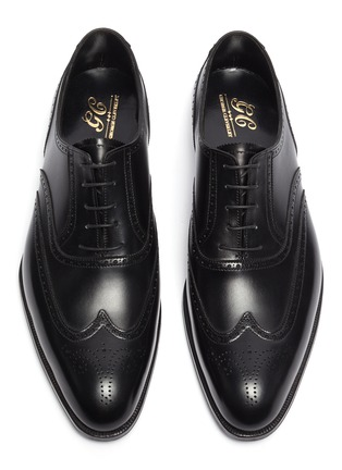 Detail View - Click To Enlarge - GEORGE CLEVERLEY - Reuben' Chisel Toe Leather Brogue Shoes