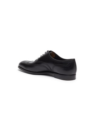 - GEORGE CLEVERLEY - Reuben' Chisel Toe Leather Brogue Shoes