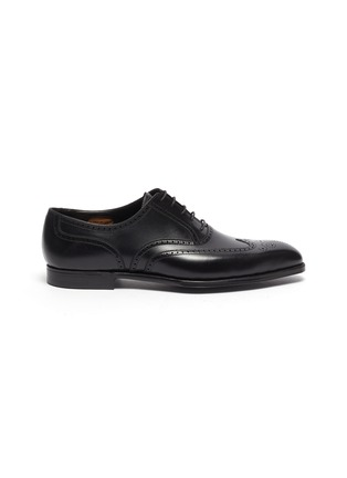Main View - Click To Enlarge - GEORGE CLEVERLEY - Reuben' Chisel Toe Leather Brogue Shoes