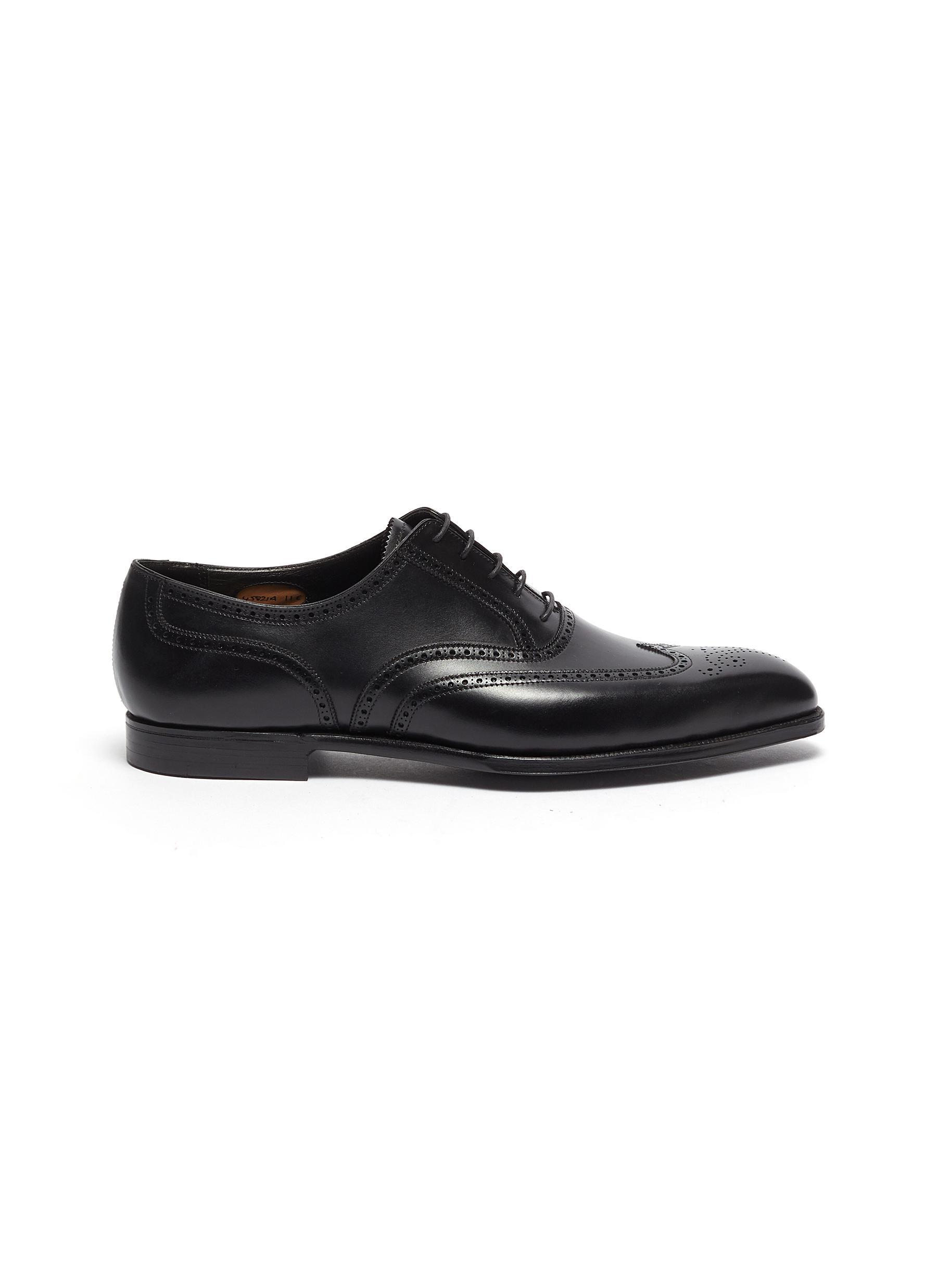 Reuben' Chisel Toe Leather Brogue Shoes