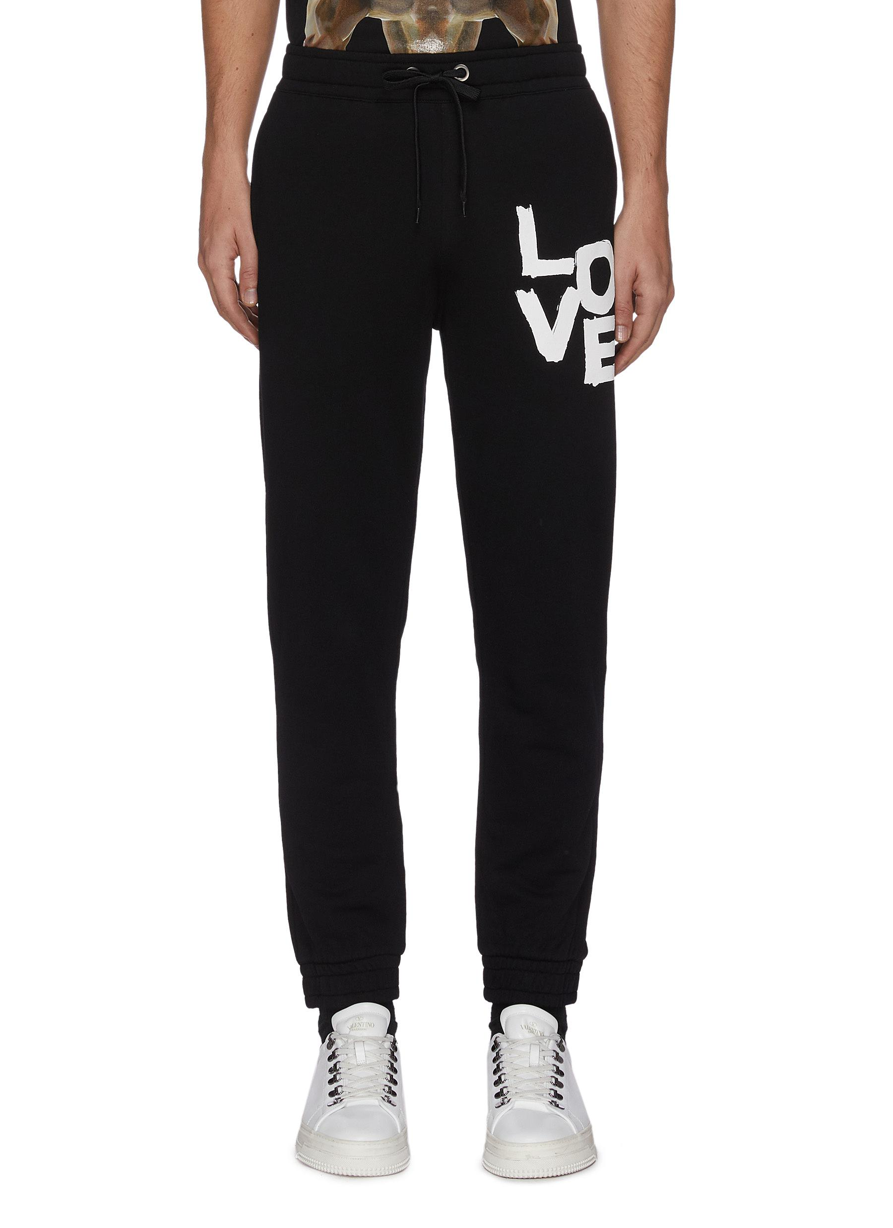 Burberry 'CAMILO' LOVE PRINT COTTON SWEATPANTS