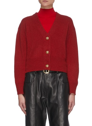 Main View - Click To Enlarge - EQUIL - Puffed Sleeves Cashmere Blend Crop Cardigan