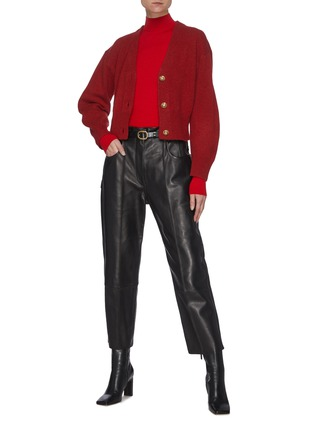 Figure View - Click To Enlarge - EQUIL - Puffed Sleeves Cashmere Blend Crop Cardigan