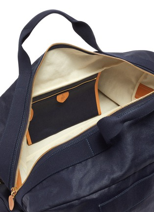 Detail View - Click To Enlarge - MARK CROSS - WEATHERBIRD' Logo Canvas Duffle Bag