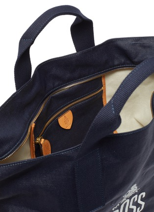Detail View - Click To Enlarge - MARK CROSS - WEATHERBIRD' Logo Canvas Tote