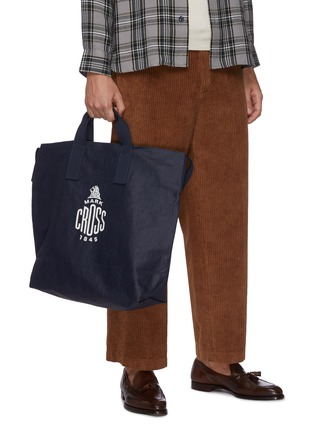 Front View - Click To Enlarge - MARK CROSS - WEATHERBIRD' Logo Canvas Tote